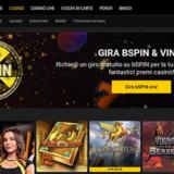 Homepage del casino bwin